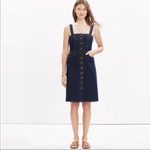 Madewell Denim Overall Dress in Matilda Wash